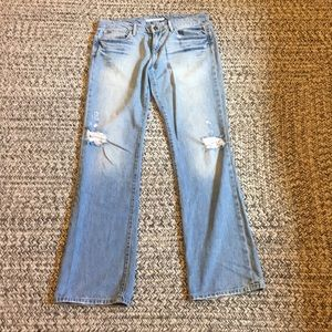 Joes Distressed Flared Jeans